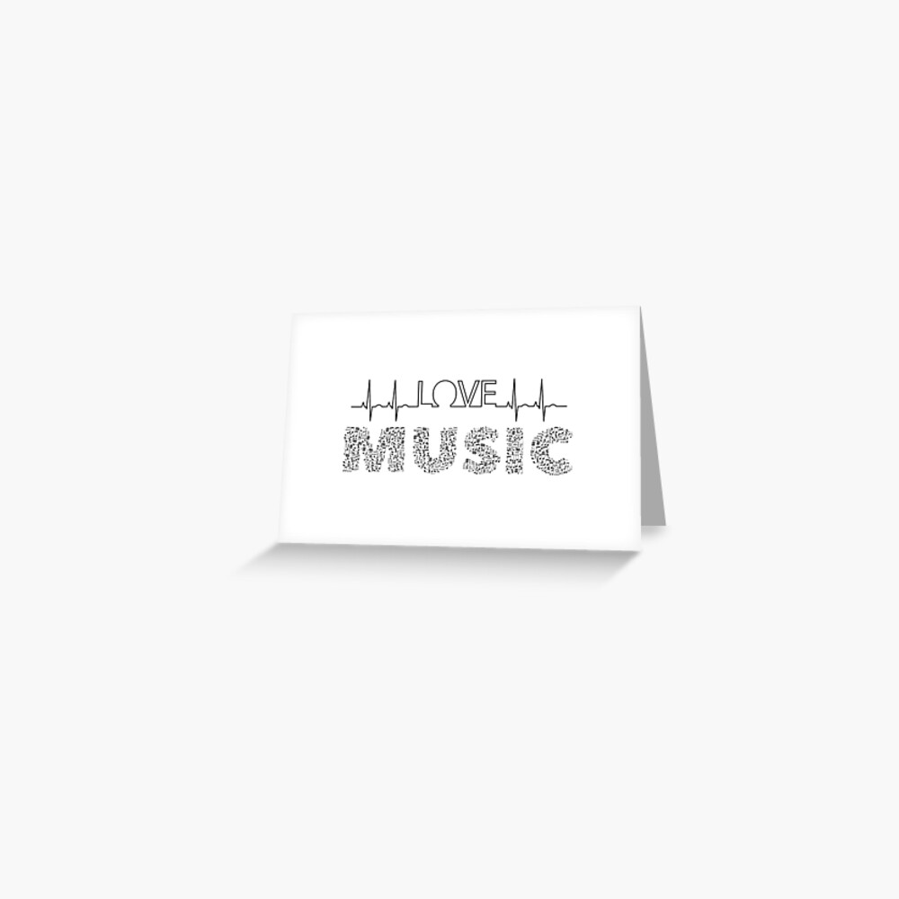 Love Music Musical notes Heartbeat Greeting Card