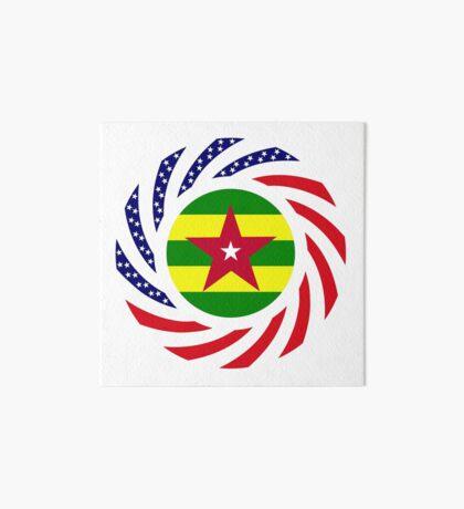 Togolese American Multinational Patriot Flag Series Art Board Print