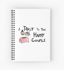Toast to the Happy Couple Spiral Notebook