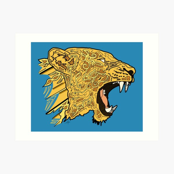 Norse Lioness Color Art Print