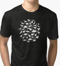DINOSAURS - white Tri-blend T-Shirt