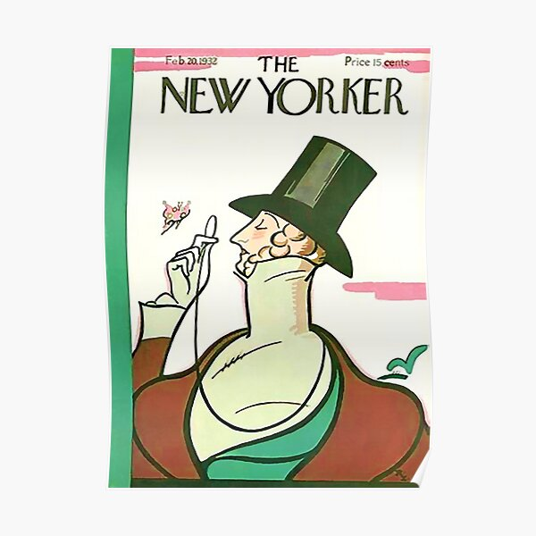Vintage New Yorker Cover - Circa 1932 Poster
