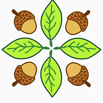 Acorn & Leaf Pattern by suhaylah