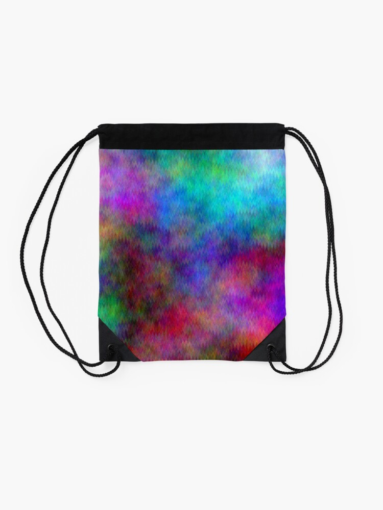 Alternate view of Nebula - Dreamy Psychedelic Space Inspired Art Drawstring Bag
