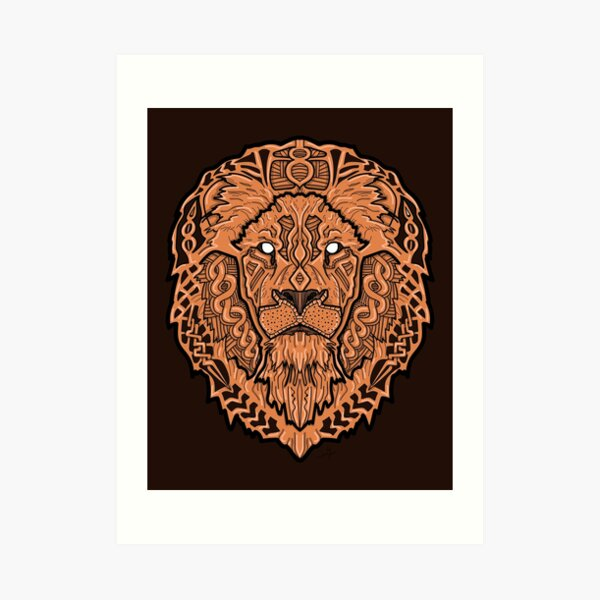 Norse Lion Color Art Print
