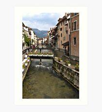 Annecy river Art Print