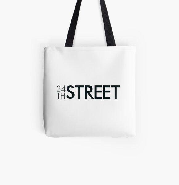 34th Street Magazine Black Logo All Over Print Tote Bag