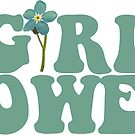 GIRL POWER - TEAL BLUE Style 13  by Maddison Green