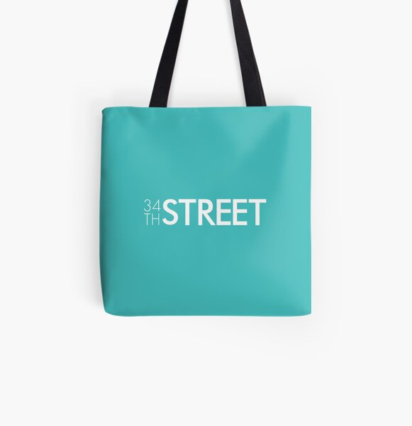 34th Street Magazine White Logo All Over Print Tote Bag