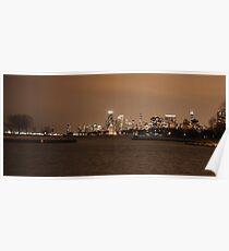 Chicago Skyline - Montrose Harbor Poster