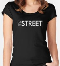 34th Street Magazine White Logo Fitted Scoop T-Shirt