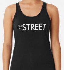 34th Street Magazine White Logo Racerback Tank Top