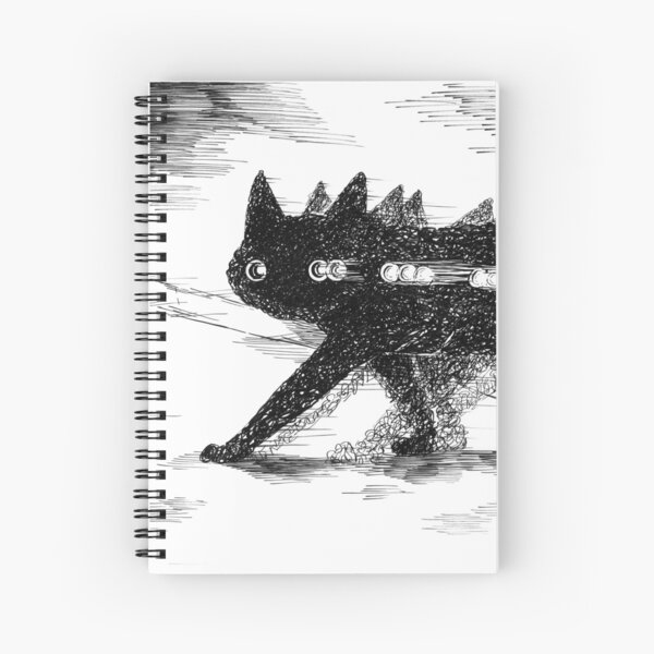 A Cat Crossing The Street, Probably Spiral Notebook