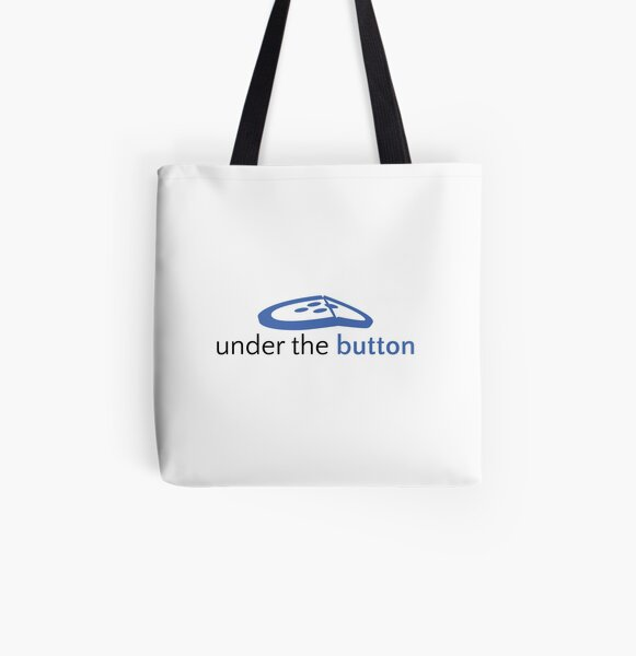 Under the Button Classic Logo All Over Print Tote Bag