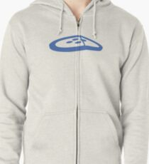 Under the Button Classic Logo Zipped Hoodie