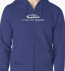 Under the Button Classic White Logo Zipped Hoodie
