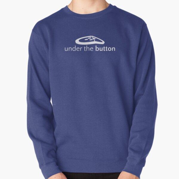 Under the Button Classic White Logo Pullover Sweatshirt