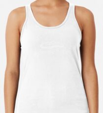 Under the Button Classic White Logo Racerback Tank Top