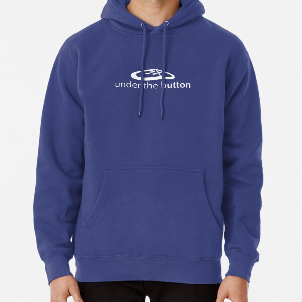 Under the Button Classic White Logo Pullover Hoodie
