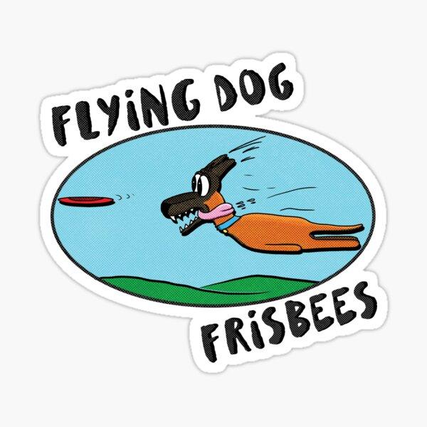 Flying Dog Frisbees Sticker