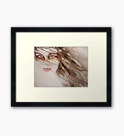 do you really see me? © 2009 patricia vannucci   Framed Print