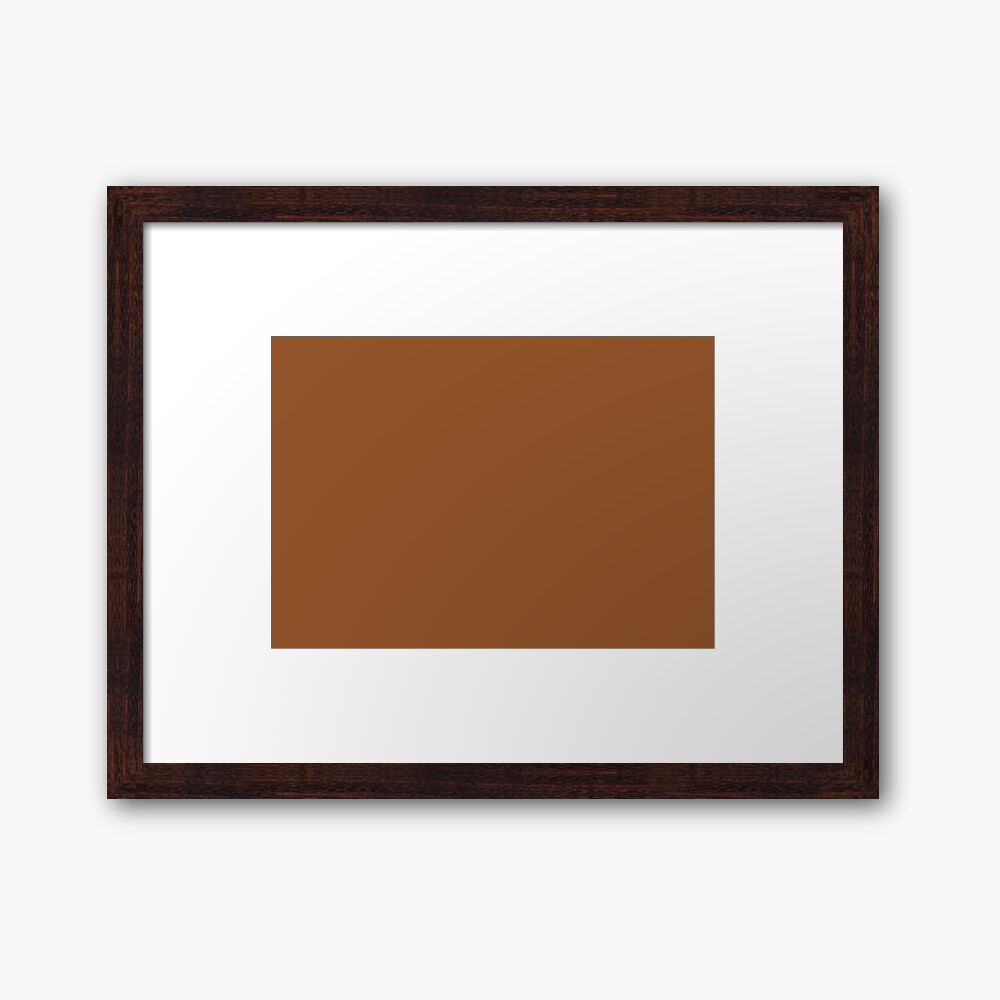 Sugar Almond 18-1155 TCX | Pantone | Color Trends | New York | Fall Winter 2019 2020 | Solid Colors | Fashion Colors | Framed Art Print