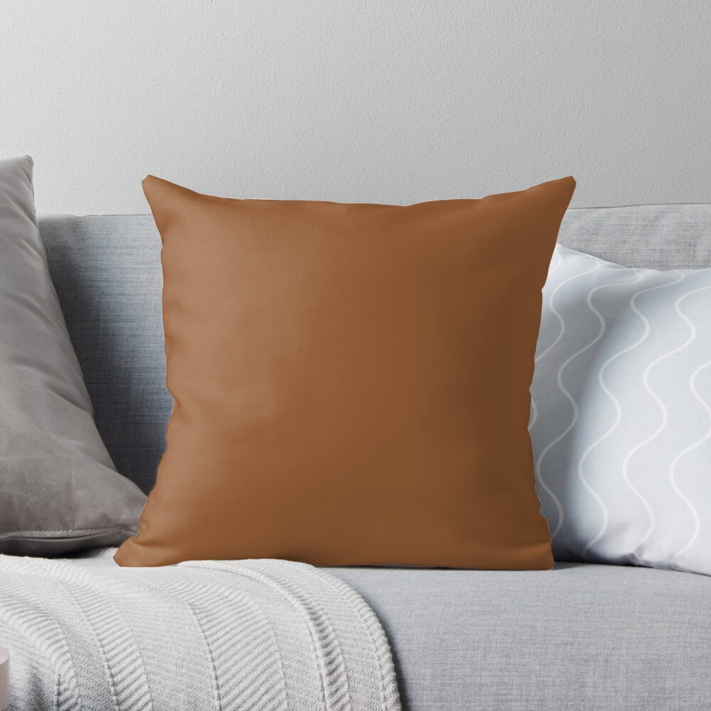 Sugar Almond 18-1155 TCX | Pantone | Color Trends | New York | Fall Winter 2019 2020 | Solid Colors | Fashion Colors | Throw Pillow