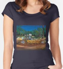 Mud Bashing Buggy Women's Fitted Scoop T-Shirt