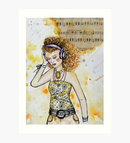 The Music in Me Art Print