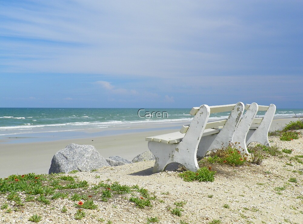 Bench with a Beach View by Caren