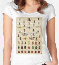 Entomologie Insektenstudien Sammlung Tailliertes Rundhals-Shirt