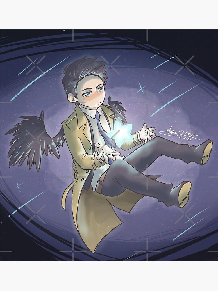 Supernatural - Castiel - Stardust by mangarainbow