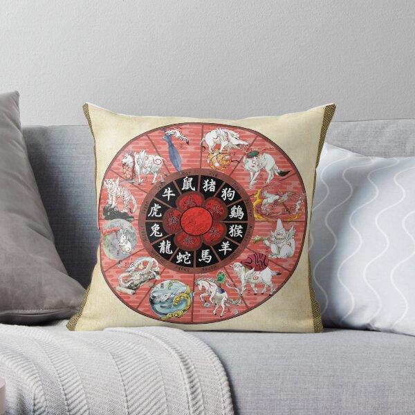 Okami Zodiac Wheel Cojín