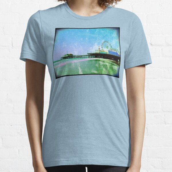 Blue and green Santa Monica Pier Essential T-Shirt