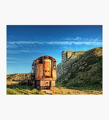 The Crane and the Odeon - Alderney Photographic Print