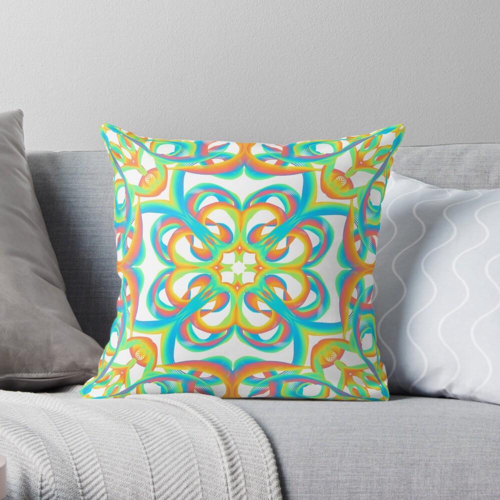 inspire 8 - rainbow flowers Throw Pillow