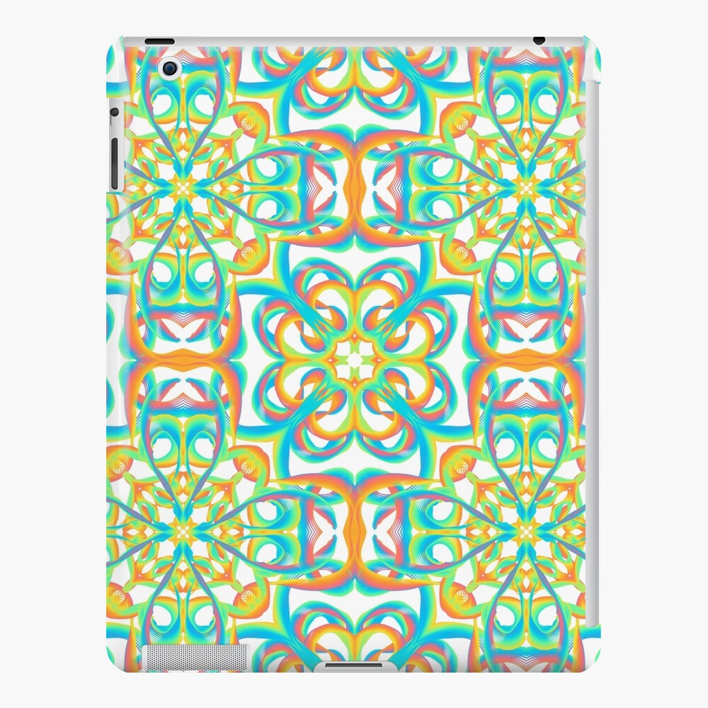 inspire 8 - rainbow flowers iPad Case & Skin