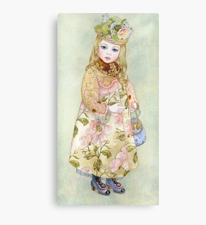 """Watercolour from a series """"Doll"""" Canvas Print"""
