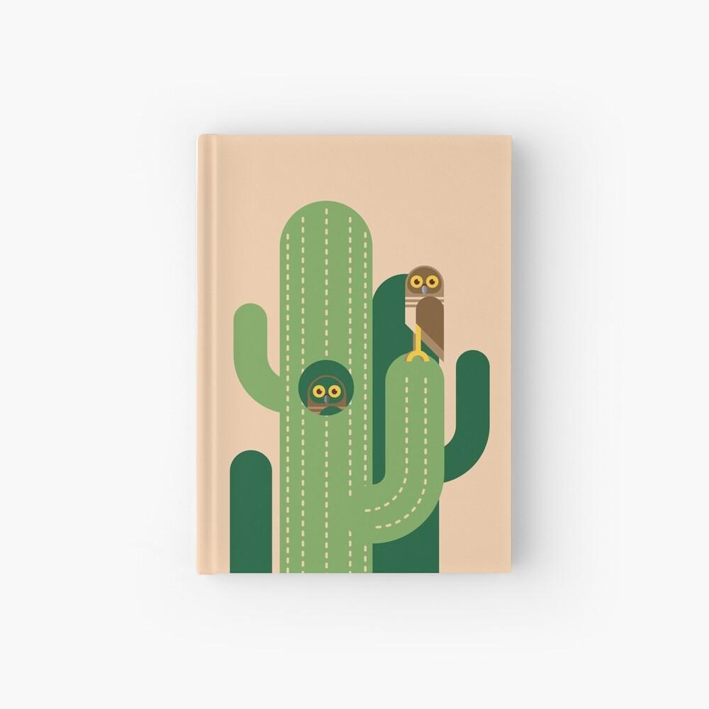 Graben von Eulen und Kakteen Vektor-Illustration Notizbuch