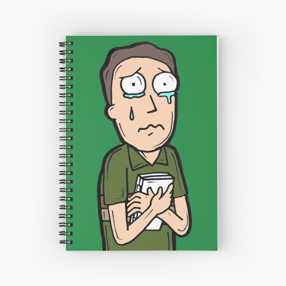 Jerry Smith from Rick and Morty™ Crying Spiral Notebook