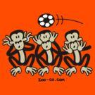 Three Wise Soccer Monkeys by Zoo-co