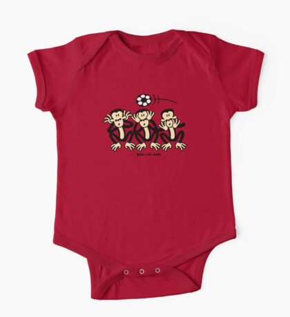 Three Wise Soccer Monkeys Kids Clothes