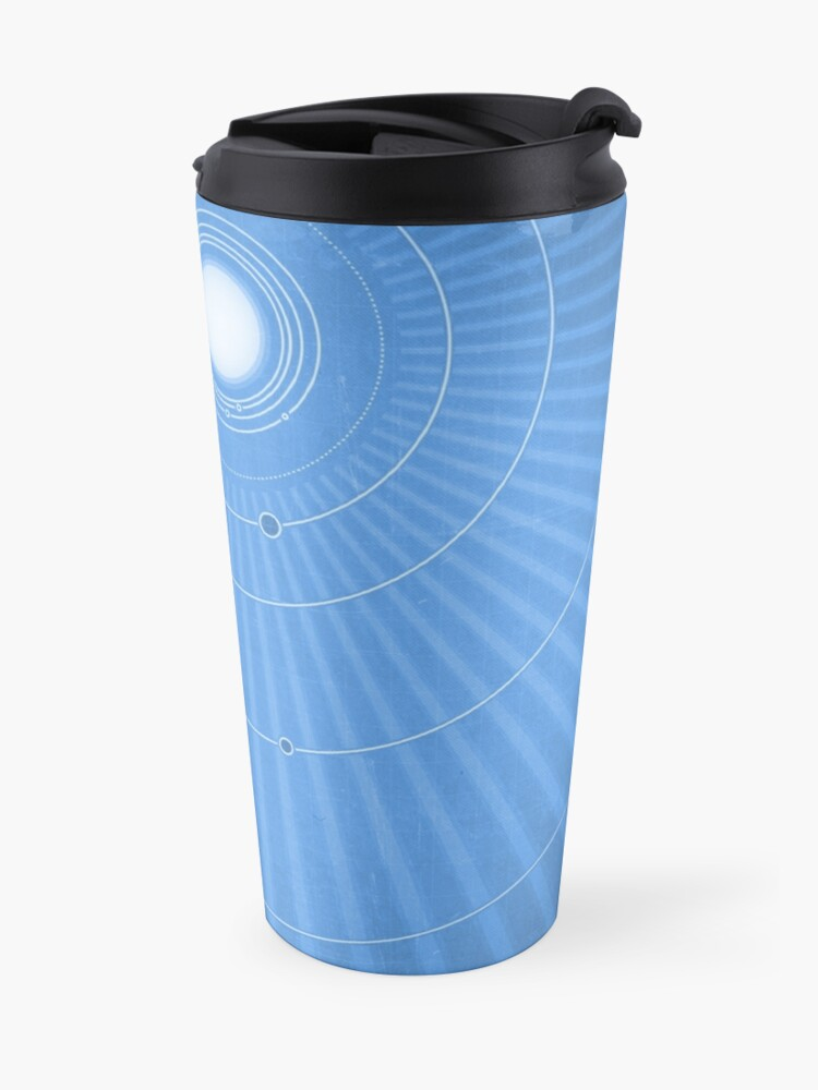 Alternate view of Solar System Cool - portrait Travel Mug
