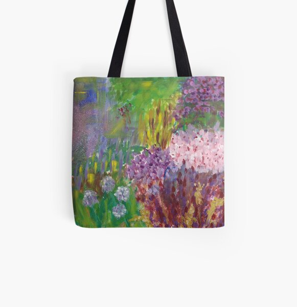 Purples All Over Print Tote Bag