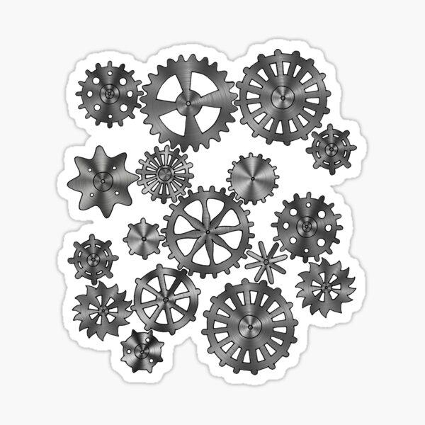Cogs Design Sticker