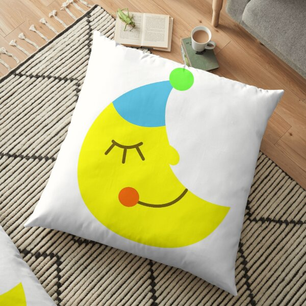 Sleeping moon Floor Pillow