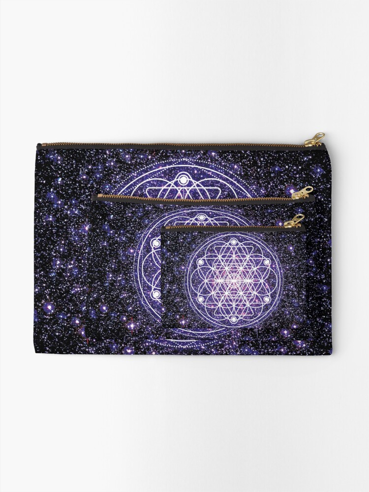 Alternate view of Sacred Geometry 3 Zipper Pouch