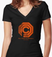 OCP Distressed Women's Fitted V-Neck T-Shirt
