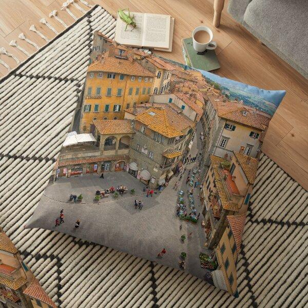 Cortona Tuscany Piazza Floor Pillow