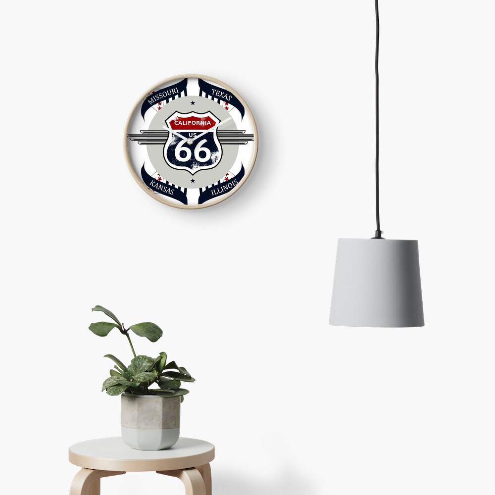 Route 66 my new version Clock